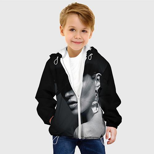Детская куртка Девушка в шляпе / 3D-Белый – фото 4