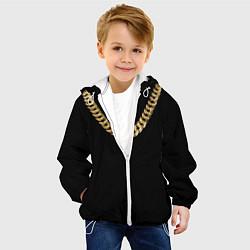 Куртка с капюшоном детская Золотая цепь цвета 3D-белый — фото 2