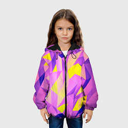 Куртка с капюшоном детская Texture цвета 3D-черный — фото 2