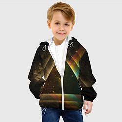 Куртка с капюшоном детская Pink Phloyd: Triangle цвета 3D-белый — фото 2