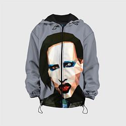 Куртка с капюшоном детская Mаrilyn Manson Art цвета 3D-черный — фото 1