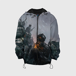 Куртка с капюшоном детская Солдаты цвета 3D-черный — фото 1