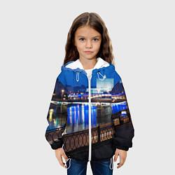 Детская 3D-куртка с капюшоном с принтом Москва, цвет: 3D-белый, артикул: 10095926005458 — фото 2
