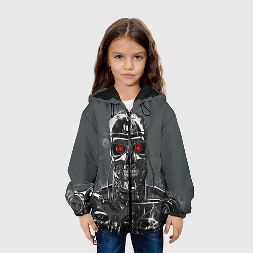 Детская куртка Скелет Терминатора / 3D-Черный – фото 3
