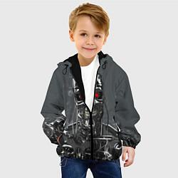 Куртка с капюшоном детская Скелет Терминатора цвета 3D-черный — фото 2