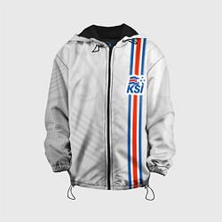 Куртка с капюшоном детская Сборная Исландии по футболу цвета 3D-черный — фото 1