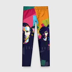Леггинсы для девочки Coldplay цвета 3D-принт — фото 1