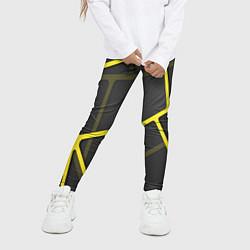 Леггинсы для девочки Желтая сетка цвета 3D — фото 2