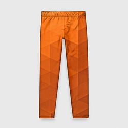 Леггинсы для девочки Orange abstraction цвета 3D — фото 1