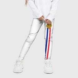 Леггинсы для девочки Франция: лента с гербом цвета 3D — фото 2
