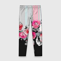 Леггинсы для девочки Розы в темноте цвета 3D — фото 1