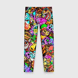 Леггинсы для девочки STANDOFF 2 STICKERS цвета 3D-принт — фото 1