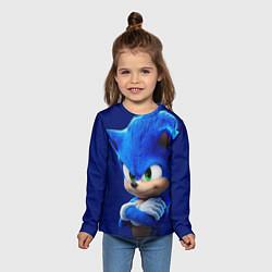 Лонгслив детский SONIC цвета 3D-принт — фото 2