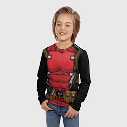 Лонгслив детский Deadpool цвета 3D-принт — фото 2