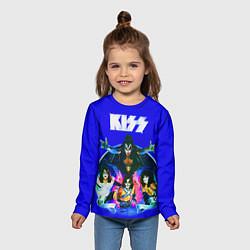 Лонгслив детский Kiss Show цвета 3D — фото 2
