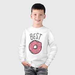 Лонгслив хлопковый детский Best friends цвета белый — фото 2