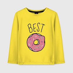 Лонгслив хлопковый детский Best friends цвета желтый — фото 1