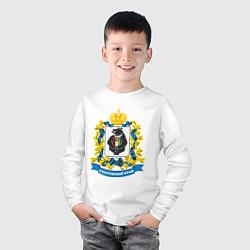 Лонгслив хлопковый детский Хабаровский край цвета белый — фото 2