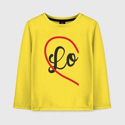 Лонгслив хлопковый детский Lo цвета желтый — фото 1