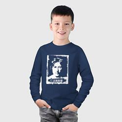 Лонгслив хлопковый детский J Lennon цвета тёмно-синий — фото 2