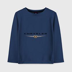 Лонгслив хлопковый детский Chrysler logo цвета тёмно-синий — фото 1