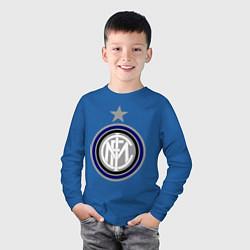 Лонгслив хлопковый детский Inter FC цвета синий — фото 2