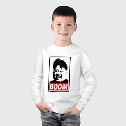 Лонгслив хлопковый детский BOOM: Kim Chen Eun цвета белый — фото 2
