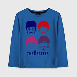 Лонгслив хлопковый детский The Beatles faces цвета синий — фото 1