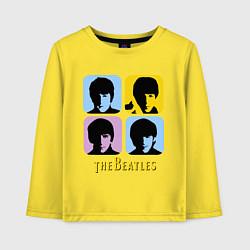 Лонгслив хлопковый детский The Beatles: pop-art цвета желтый — фото 1