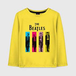 Лонгслив хлопковый детский Walking Beatles цвета желтый — фото 1