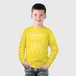 Лонгслив хлопковый детский Little Big: Skibidi цвета желтый — фото 2