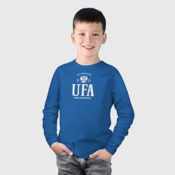Лонгслив хлопковый детский Уфа Born in Russia цвета синий — фото 2