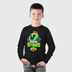 Лонгслив хлопковый детский BRAWL STARS SPIKE цвета черный — фото 2