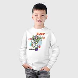 Лонгслив хлопковый детский Buzz Lightyear цвета белый — фото 2