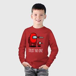Лонгслив хлопковый детский AMONG US цвета красный — фото 2