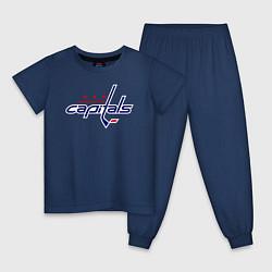 Пижама хлопковая детская Washington Capitals цвета тёмно-синий — фото 1