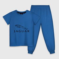 Пижама хлопковая детская Jaguar цвета синий — фото 1