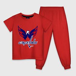 Пижама хлопковая детская Washington Capitals: Ovechkin цвета красный — фото 1