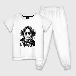 Пижама хлопковая детская Dream is over цвета белый — фото 1