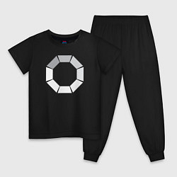 Пижама хлопковая детская Loading цвета черный — фото 1