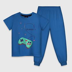 Пижама хлопковая детская Perfect Team: Player 2 цвета синий — фото 1