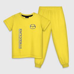 Пижама хлопковая детская Mazda Style цвета желтый — фото 1