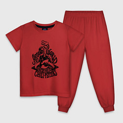 Пижама хлопковая детская RHCP: Around World цвета красный — фото 1