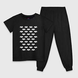 Пижама хлопковая детская Marshmello Humans цвета черный — фото 1