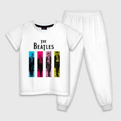 Пижама хлопковая детская Walking Beatles цвета белый — фото 1