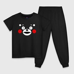 Пижама хлопковая детская Kumamon Face цвета черный — фото 1