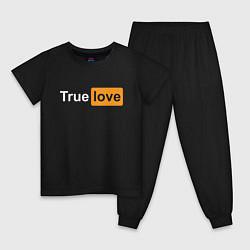Пижама хлопковая детская True Love цвета черный — фото 1