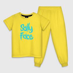 Пижама хлопковая детская SALLY FACE цвета желтый — фото 1