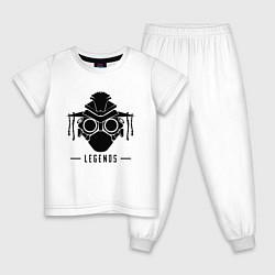 Пижама хлопковая детская Apex Legends цвета белый — фото 1