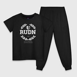 Пижама хлопковая детская RUDN цвета черный — фото 1